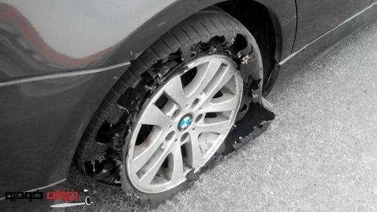 بایدها و نبایدهای رانندگان ،در هنگام ترکیدن لاستیک