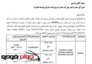 مجوز واردات موتورسیکلت برقی SUNRA-2