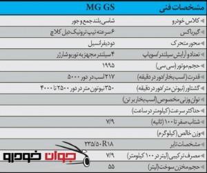 مشخصات فنی  lMG  GS