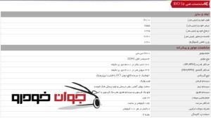 BYD S6_مشخصات فنی