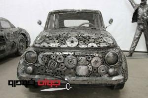 ساخت ماکت خودرو با ضایعات آهن