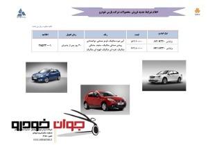 محصولات پارس خودرو – شهریور ۹۵ به شرح ذیل است :