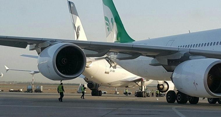 برخورد دو هواپیما-فرودگاه امام خمینی