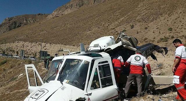 سقوط هلیکوپتر اورژانس