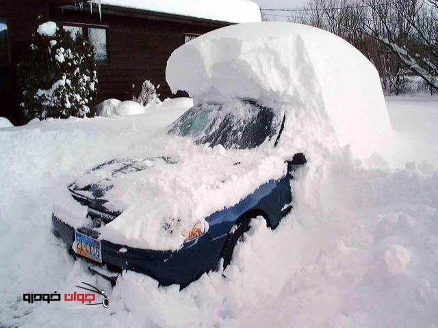 برف روی خودرو