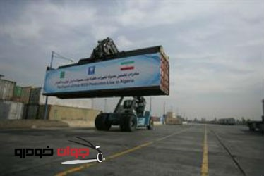 صادرات محموله تجهیزات خط تولید ایران خودرو به الجزایر