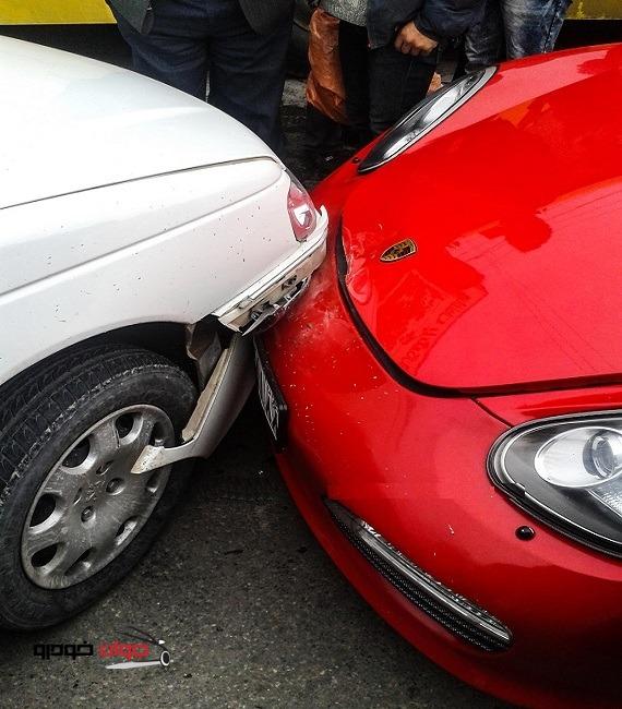 تصادف پرشیا و پورشه