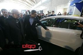 بازدید وزیر صنعت از نمایشگاه خودرو تهرن_غرفه ایران خودرو