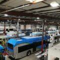 خط تولید اتوبوس های برقی بی وای دی