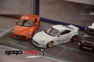 ماکت های خودرو در نمایشگاه خودرو