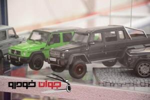 نمایش ماکت های خودرو در نمایشگاه خودرو تهران