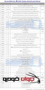 قیمت محصولات ایران خودرو در نمایندگی (اسفند 96)