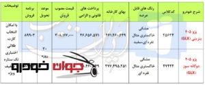 فروش فوری پژو 405 بنزینی و دوگانه سوز (خرداد 97)
