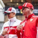 f1-spanish-gp-2018-marcus-ericsson-sauber-and-kimi-raikkonen-ferrari-on-the-drivers-parade