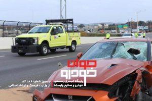 کشته شدن مالک نیسان GT-R بر اثر برخورد بلوک بتنی با خودرویش (2)