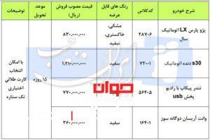 بخشنامه فروش ایران خودرو-آذر۹۷