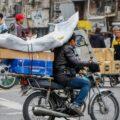موتورسیکلت-حمل بار با موتورسیکلت