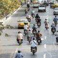 موتورسیکلت در خیابان
