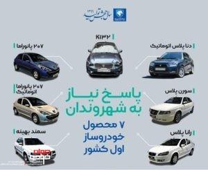 محصولات جدید ایران خودرو در سال 99
