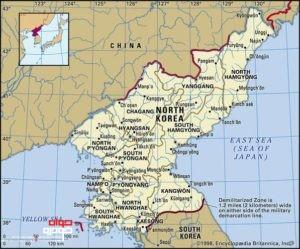 نقشه کره شمالی