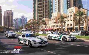 خودروهای پلیس دبی