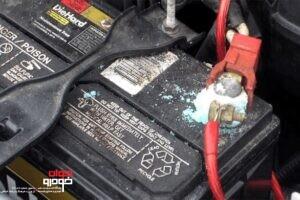 اکسید شدن اتصالات باتری