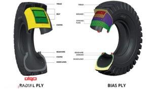 تفاوت لاستیک های رادیال و لاستیک های بایاس